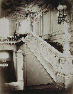 Особняк П.С. Строганова на Сергиевской улице. Парадная лестница с нижним вестибюлем