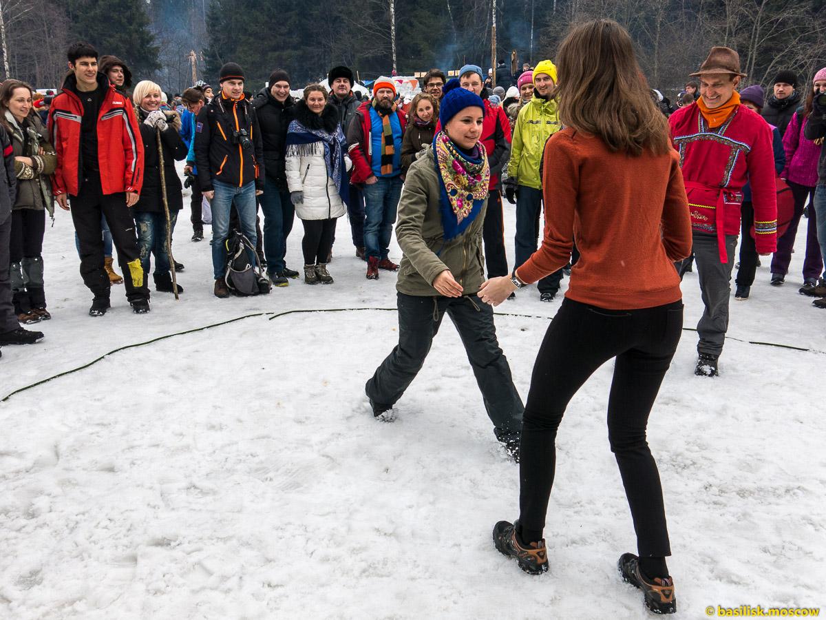 Бакшевская масленица 2016. Гуляния на масленичной поляне. 13 марта 2016