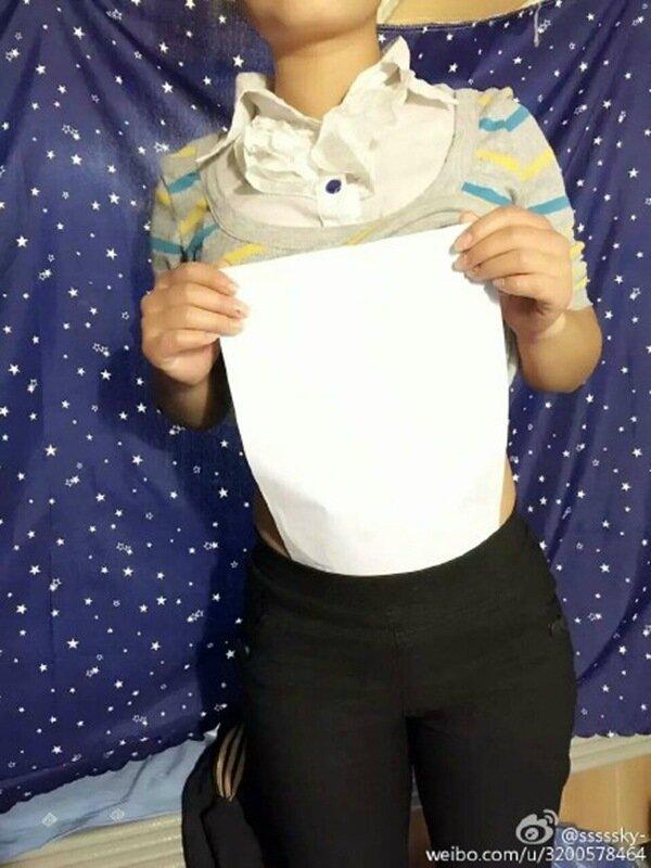 Не каждая девушка сможет пройти проверку талии листом бумаги
