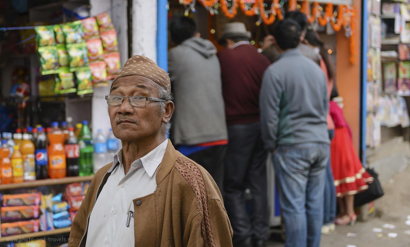 Фотография 20. Портрет жителя города Дарджилинг в Западной Бенгалии. Отзывы туристов о поездке в Индию. 1/500, -0.67, 2.8, 250, 55.
