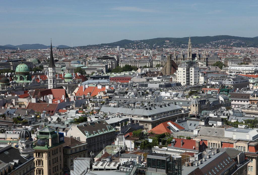 Вид на Вену с собора св. Стефана