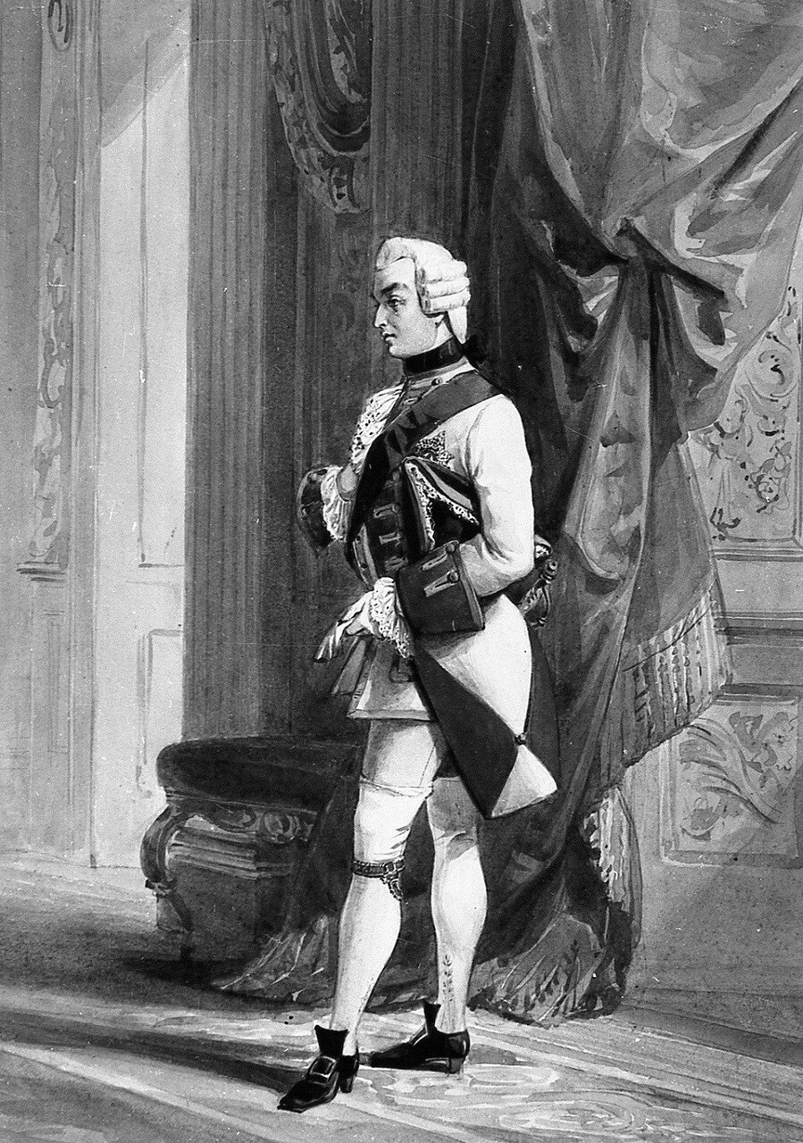 Charles, Prince of Leiningen (1804-56) in his costume for the fancy ball  drawn 1845