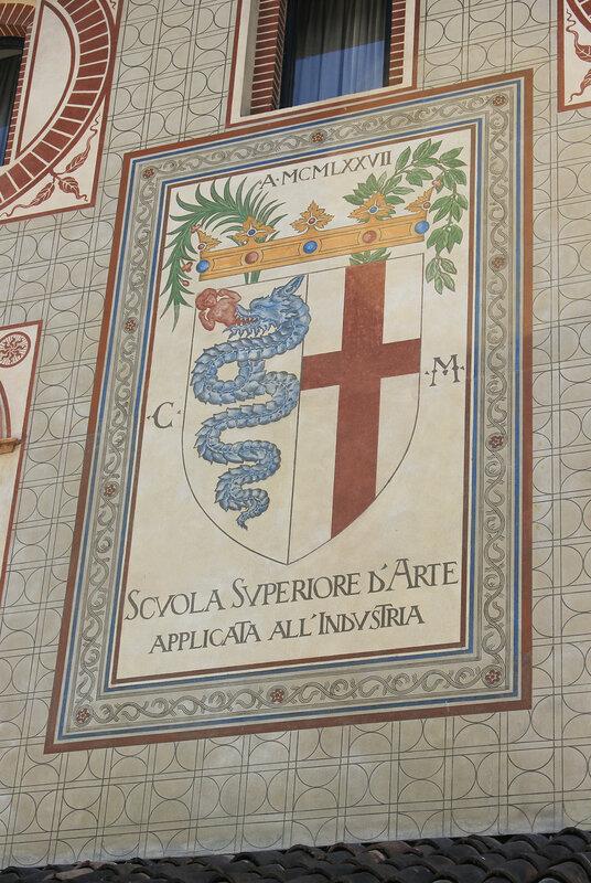 Изображение на стене замка Сфорца