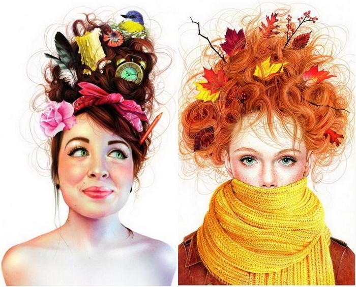 Восхитительные иллюстрации, созданные обычными цветными карандашами