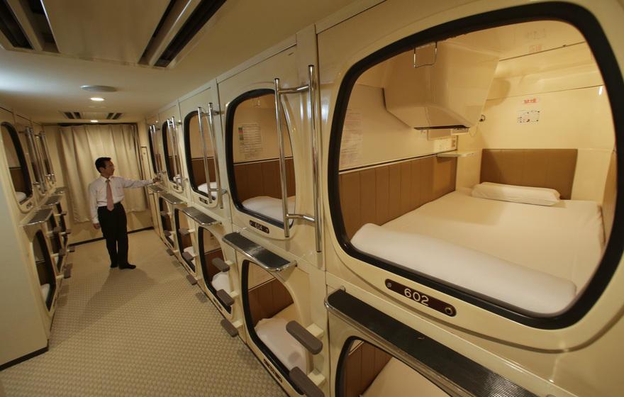 22. Самый оживленный отель – Токио Капсульная гостиница в Японии.