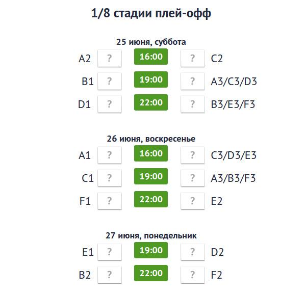 Евро 2016 календарь