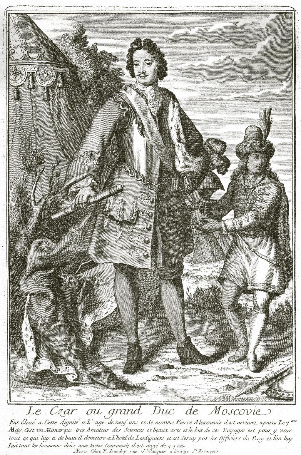 227. Портрет Петра I, изданный французским книгопродавцем F. Landry.