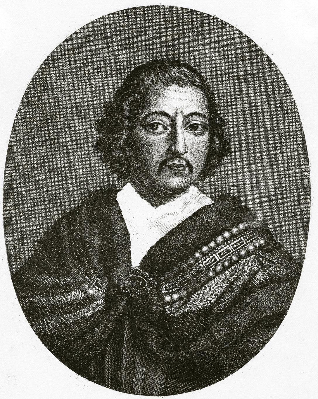 229. Портрет Петра I, гравированный живописцем Карлом Моором.