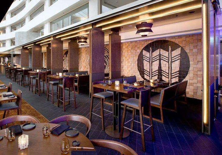 Luchetti Krelle designed this modern restaurant interior in collaboration with Steelman Partners , f