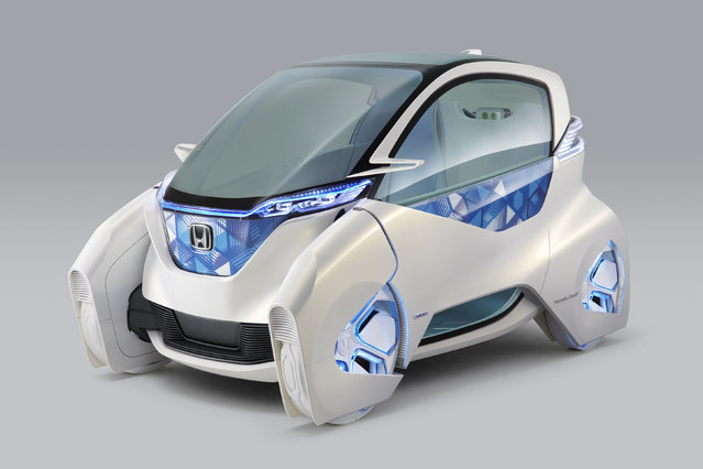 Honda Motor Co's electric Micro Commuter Concept city vehicle is seen in an image released by H