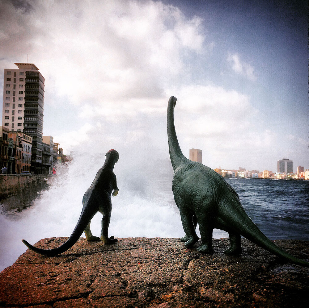 Toy Dinosaurs Add a Prehistoric Dimension to Travel Snapshots
