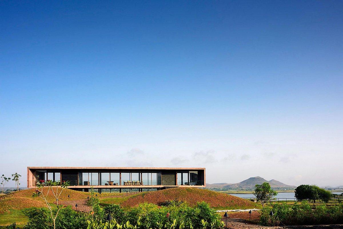 Нашик, штат Махараштра, Индия, Ajay Sonar, панорамное остекление частного дома, частный дом с окнами в пол, частные дома в Индии