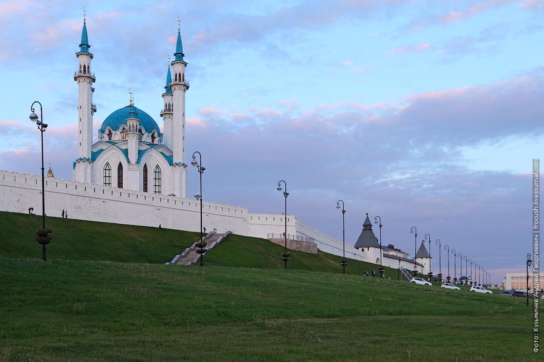 Казанский кремль в лучах заката