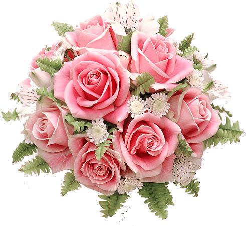 Клипарт букеты цветов на прозрачном фоне