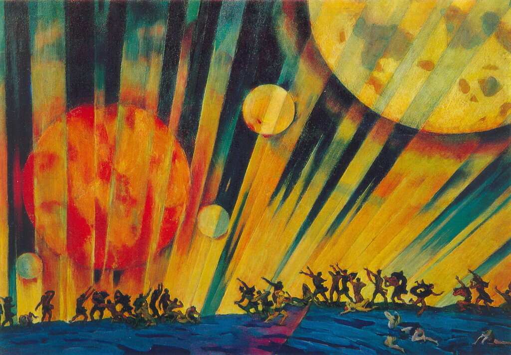 1921 Новая планета. Картон, темпера. 71x101. ГТГ.jpg