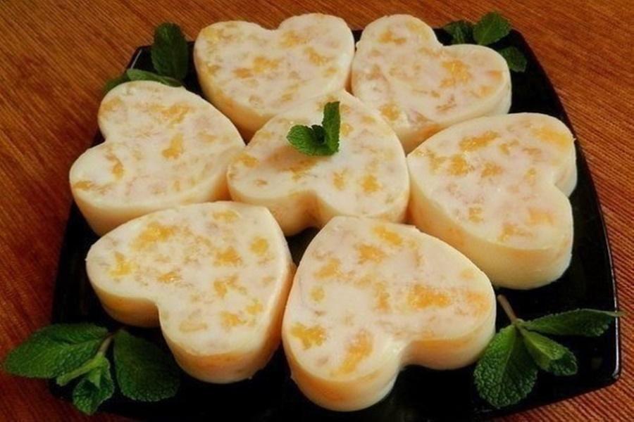 Апельсиновый десерт из заварного крема