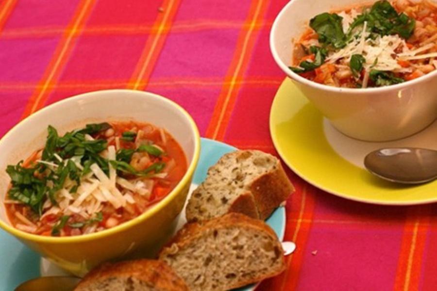Суп в горшочках   итальянская минестра