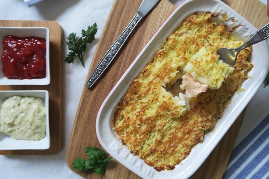Рыбный пирог по милански