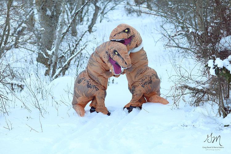 Динозавры вымерли, но настоящая любовь жива!