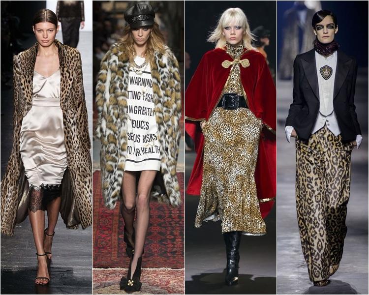 леопардовый принт, мода осень-зима 2016-2017