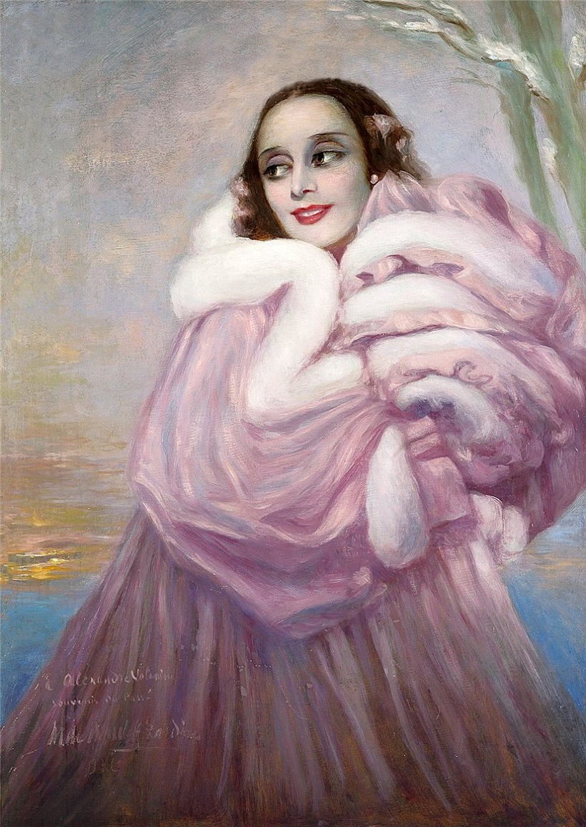 Portrait of the Ballerina Anna Pavlova-unknown artist