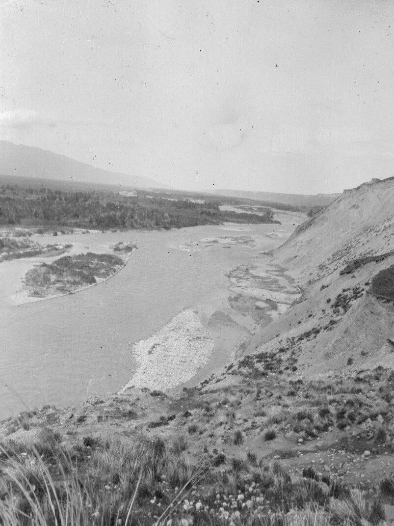 Река Текес, вид на запад