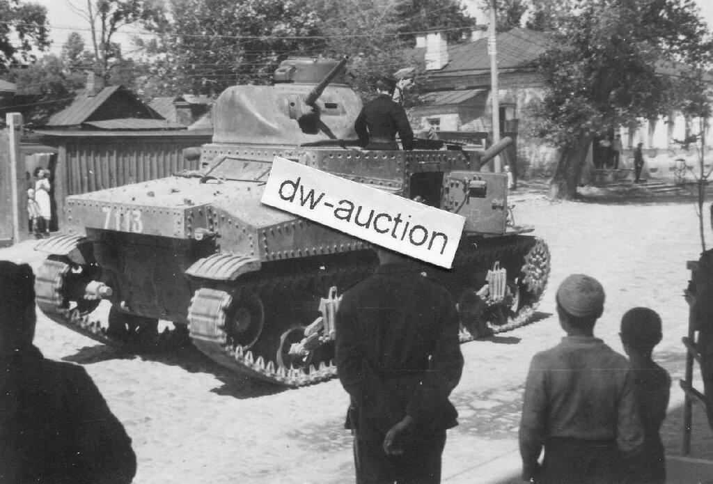 """Захваченный танк М3с """"Советские герои"""" из 192 тбр. Болхов, Орловская обл. 1942 год."""