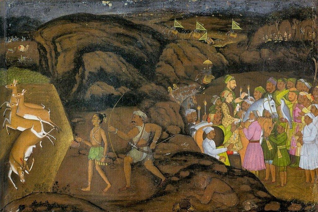 Мир Калан Хан. Ночная охота на антилоп. 1734-35гг.jpg