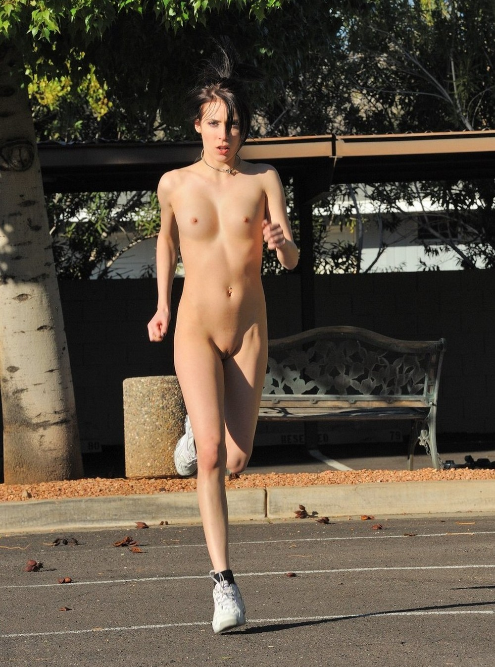 Girls naked jogging #10