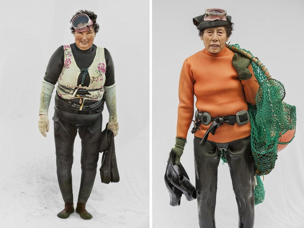 Портреты пожилых ныряльщиц за моллюсками