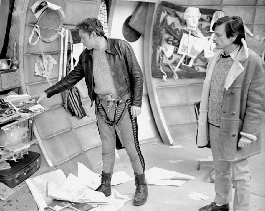 """Донатас Банионис и Андрей Тарковский на съёмках """"Соляриса"""", 1972 год"""