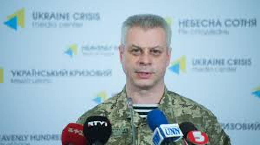 За минувшие сутки двое украинских воинов погибли, 8 - ранены, - спикер АТО. ВИДЕО