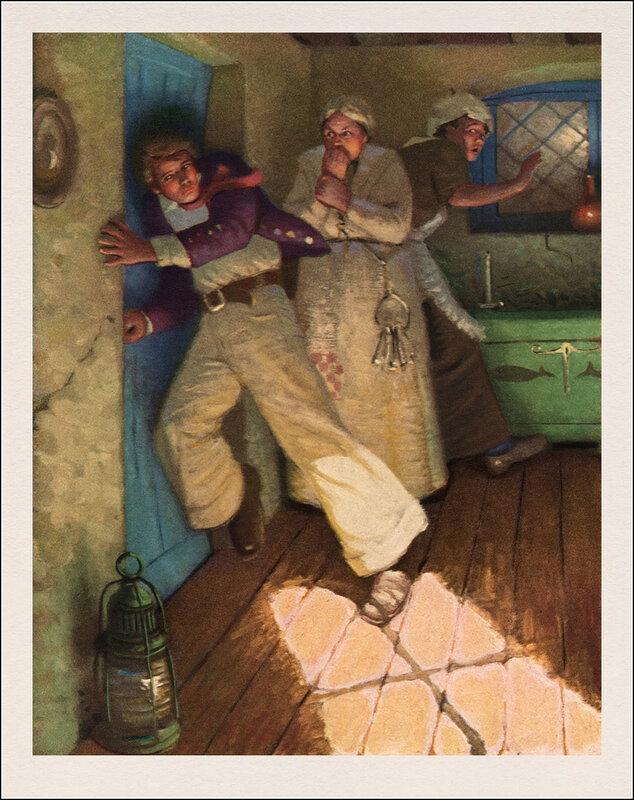 """Художник Mead Schaeffer, иллюстрации к роману Германа Мелвилла """"Моби Дик""""."""