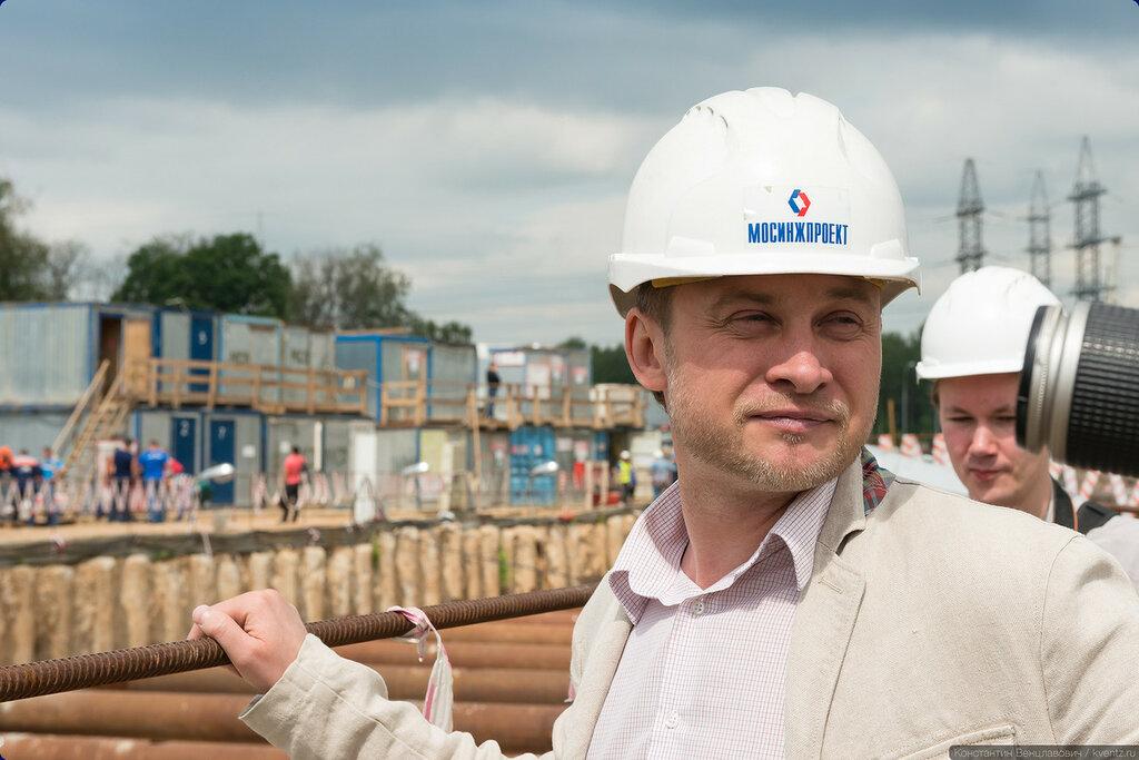Начальник строительства станции Ховрино Сергей Кузьменко