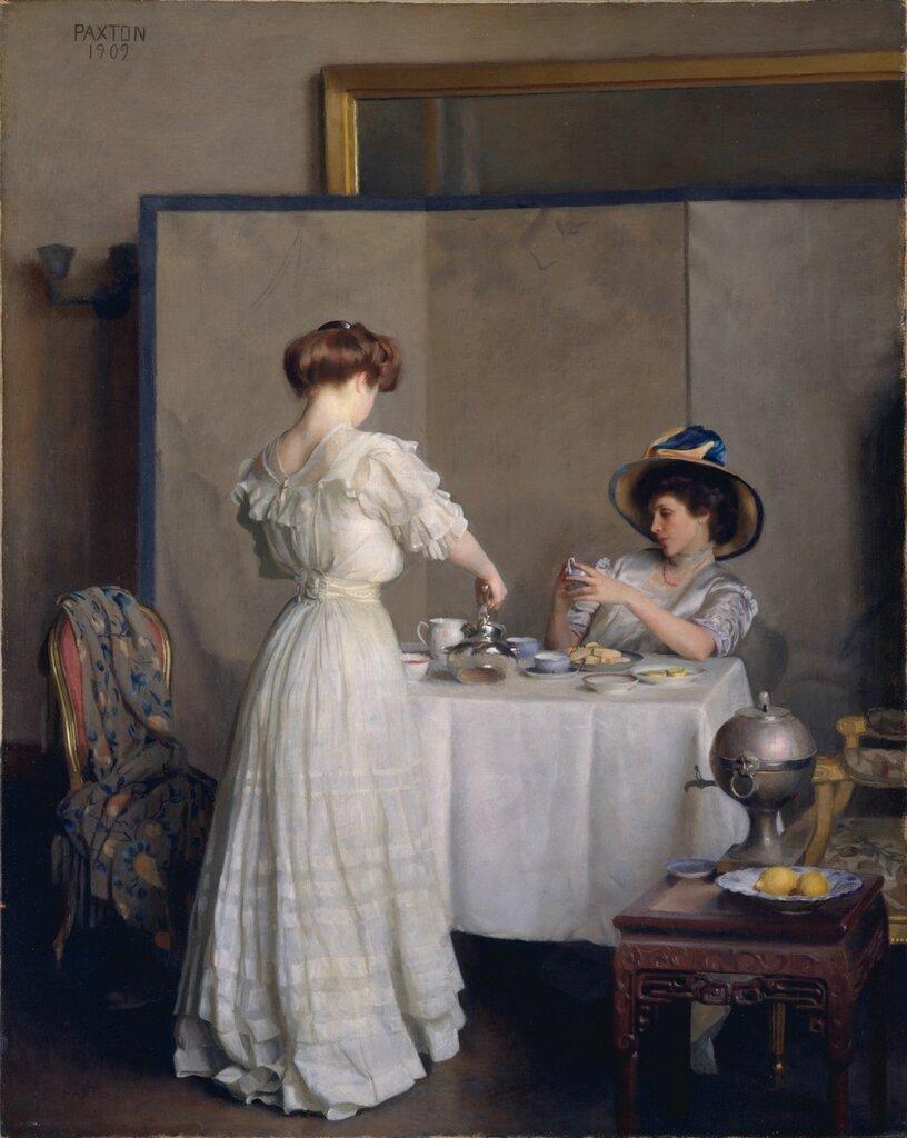 Американские художники: William McGregor Paxton (1869-1941) - Tea Leaves (1909 The Metropolitan Museum of Art)