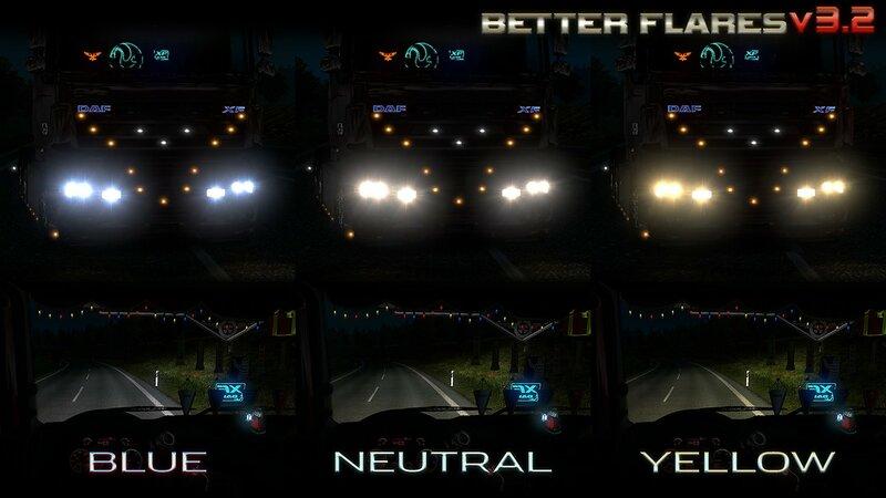 Better Flares v3 2 for ETS2 - SCS Software