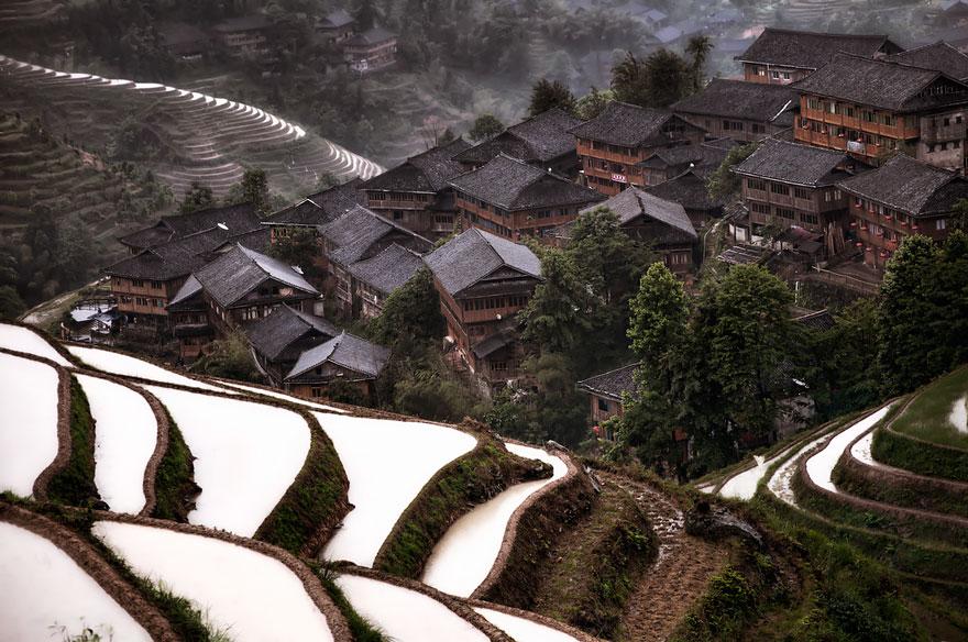 Горная деревушка на юге Китая.