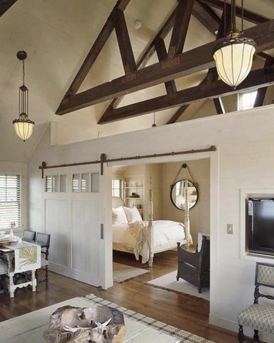 15. Спальня в деревенском стиле