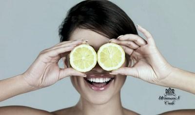 Маска с лимоном для век