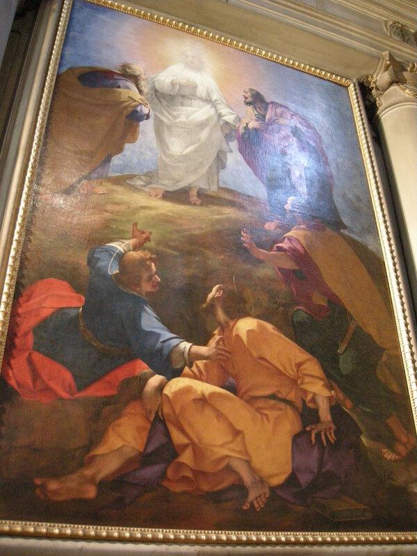 San marco, firenze, altare degli orafi, poi pandolfini, Giovanni Battista Paggi, trasfigurazione, 1596