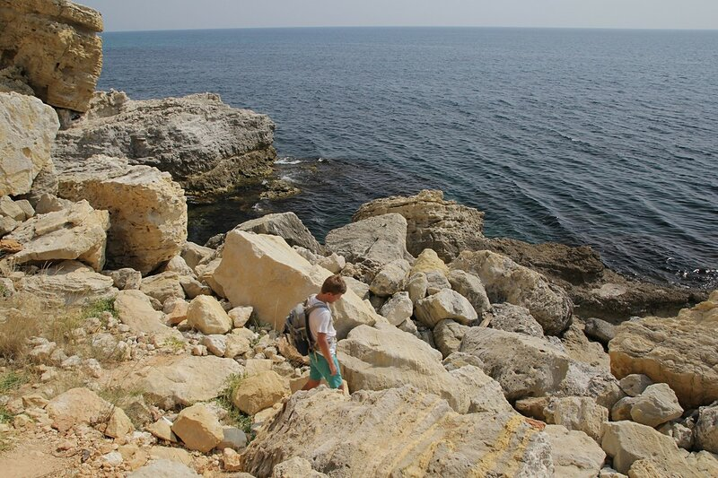 Россыпь камней на Фиоленте в месте нашего отдыха и купания
