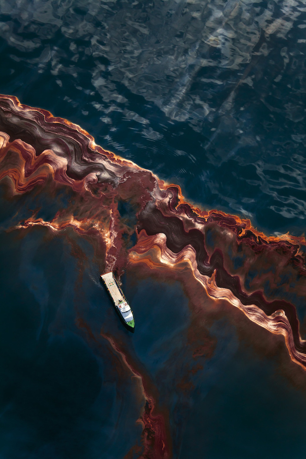May 6th, 2010, Aerial view of the oil leaked from the Deepwater Horizon wellhead