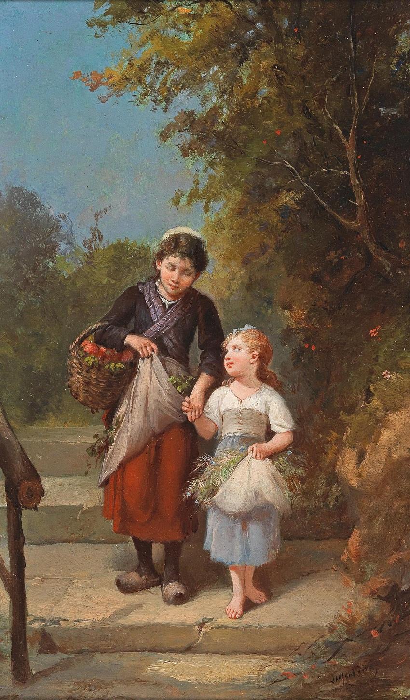 Francois Louis Lanfant de Metz (Sierck 1814-1892 Le Havre) Heimkehr vom Garten