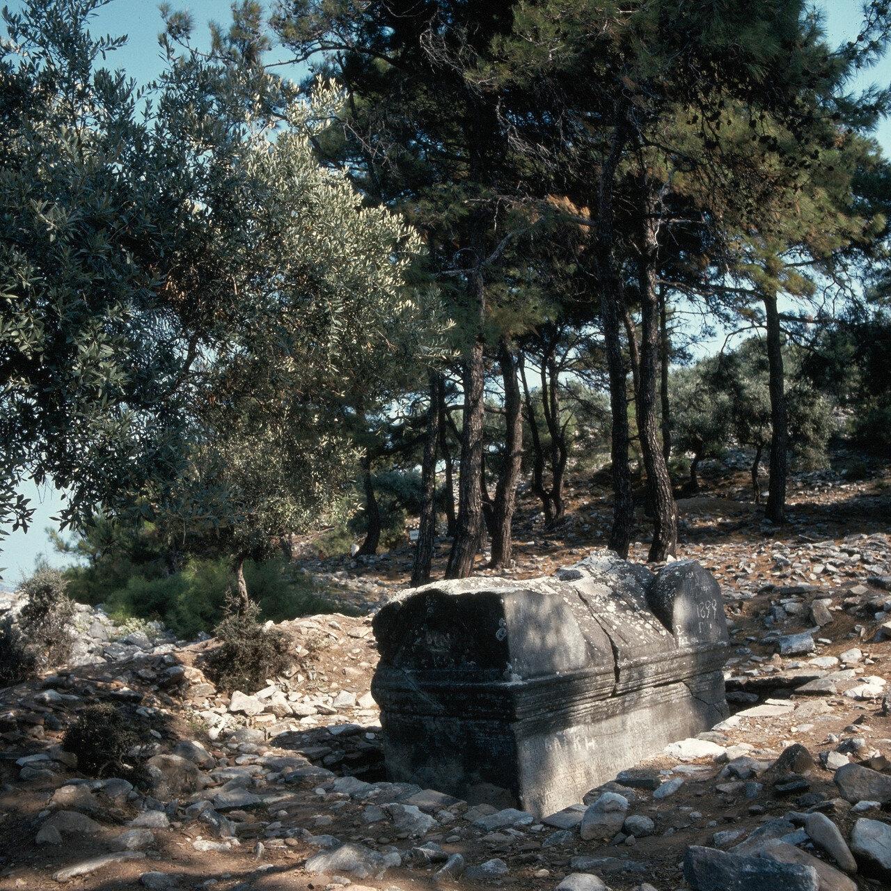 Тасос, Алики. Античный саркофаг в святилище на мраморном карьере