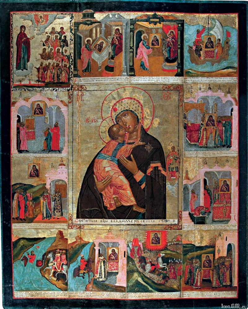 Владимирская икона Божией Матери, с клеймами