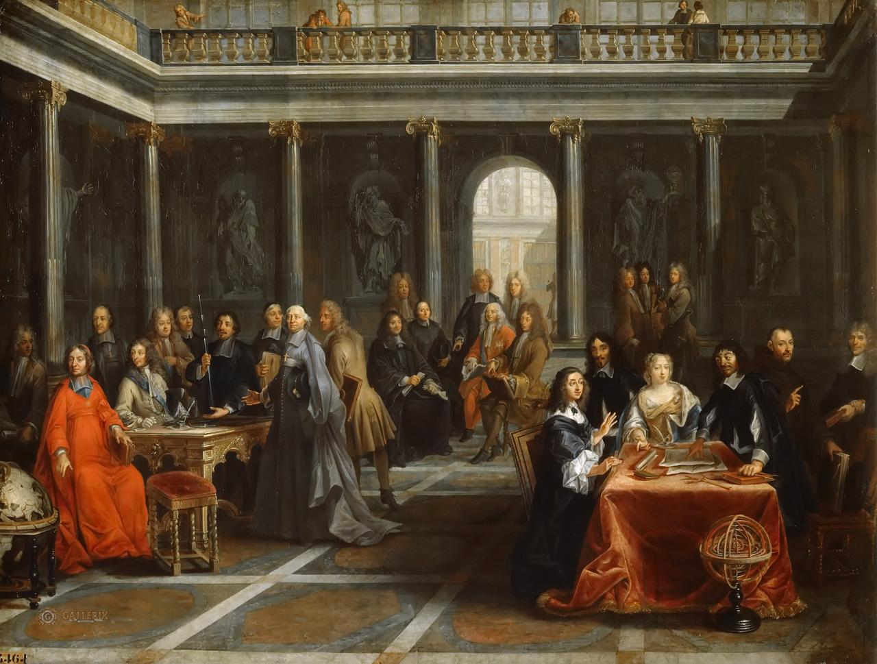 Рене Декарт при дворе Кристины Шведской.Pierre Louis Dumesnil (1698 - 1781)