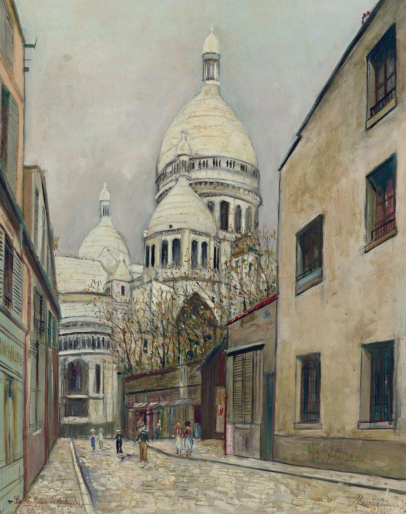 Sacre-Coeur de Montmartre and Rue du Chevalier De La Barre, 1936.jpeg