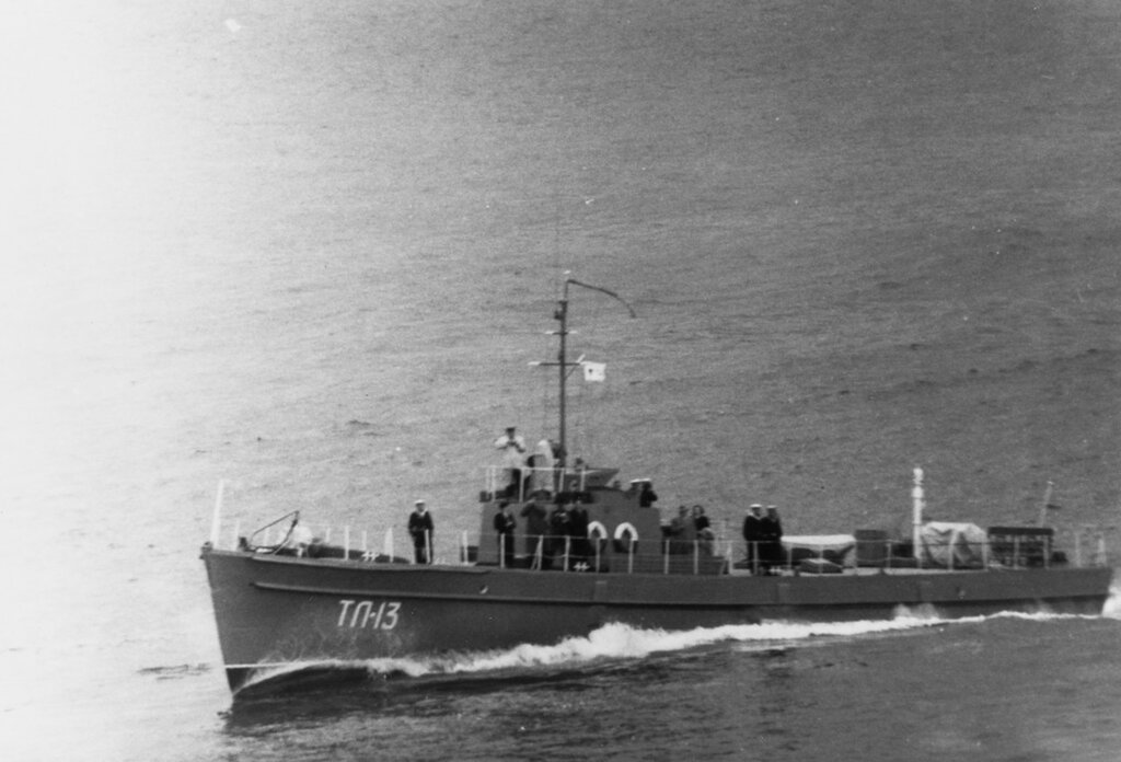 TL-13 (Soviet Patrol Craft) In commission from circa 1944 to circa 1960. A Soviet patrol vessel, pennant number TL-13, photographed in the eastern Baltic Sea during 1956. This vessel may have been built originally as a motor torpedo boat.