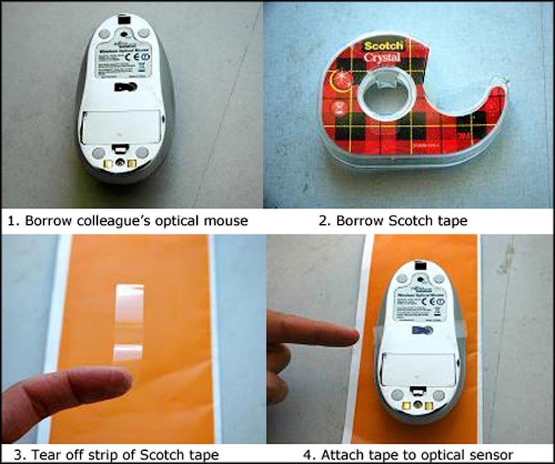 19. Заклейте скотчем мышку и наблюдайте, как коллеги пытаются проверить свою почту.