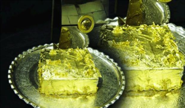4. Десерт «Золото для султана» ($1 тыс.) Этот десерт турки часто дарят молодожёнам на свадьбу Хотите